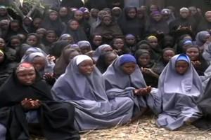 Imatge dalgunes de les noies segrestades per Boko Haram a Chibok, labril del 2014.