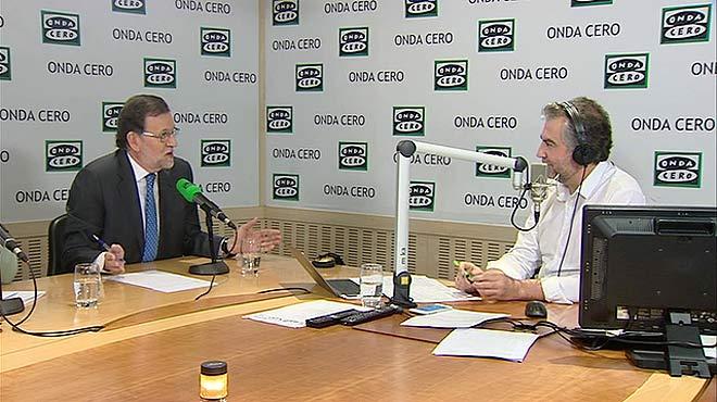 Mariano Rajoy respon sobre la corrupció al PP valencià en una entrevista a Onda Cero.