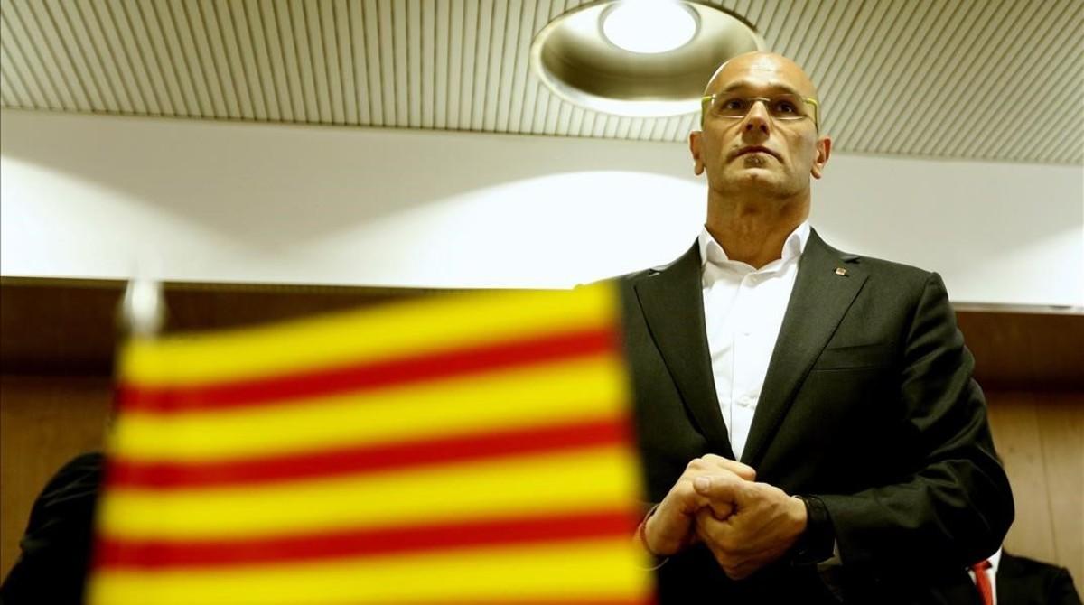 Raul Romeva en una reunión en Madrid
