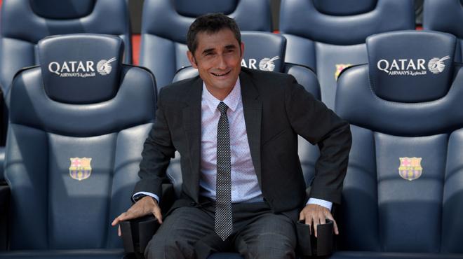 Primer dia de Valverde al Barça.