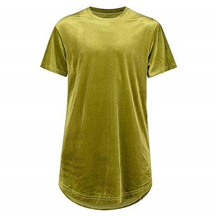 Camiseta de terciopelo amarilla