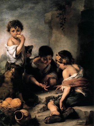 'Nens jugant als daus' (1665-1675), de Bartolomé Esteban Murillo