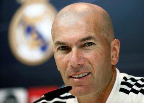 Zinedine Zidane, técnico del Madrid, en rueda de prensa.