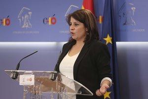 La vicesecretaria general del PSOE y portavoz del Grupo Socialista en el Congreso, Adriana Lastra.