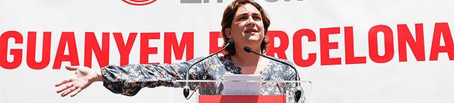 Ada Colau, en un acto de campaña de Barcelona en Comú. JULIO CARBÓ