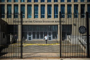 US embassy in Havana.Diplomats who sustained mysterious brain injuries while stationed in Cuba experienced a cluster of symptomsincluding anxietymental fog and dizzinessthat is more complex than previously reportedscientists said Photo by YAMIL LAGEAFP