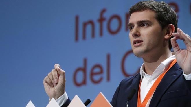 Albert Rivera, president de Ciutadans, durant el congrés del partit, al febrer.
