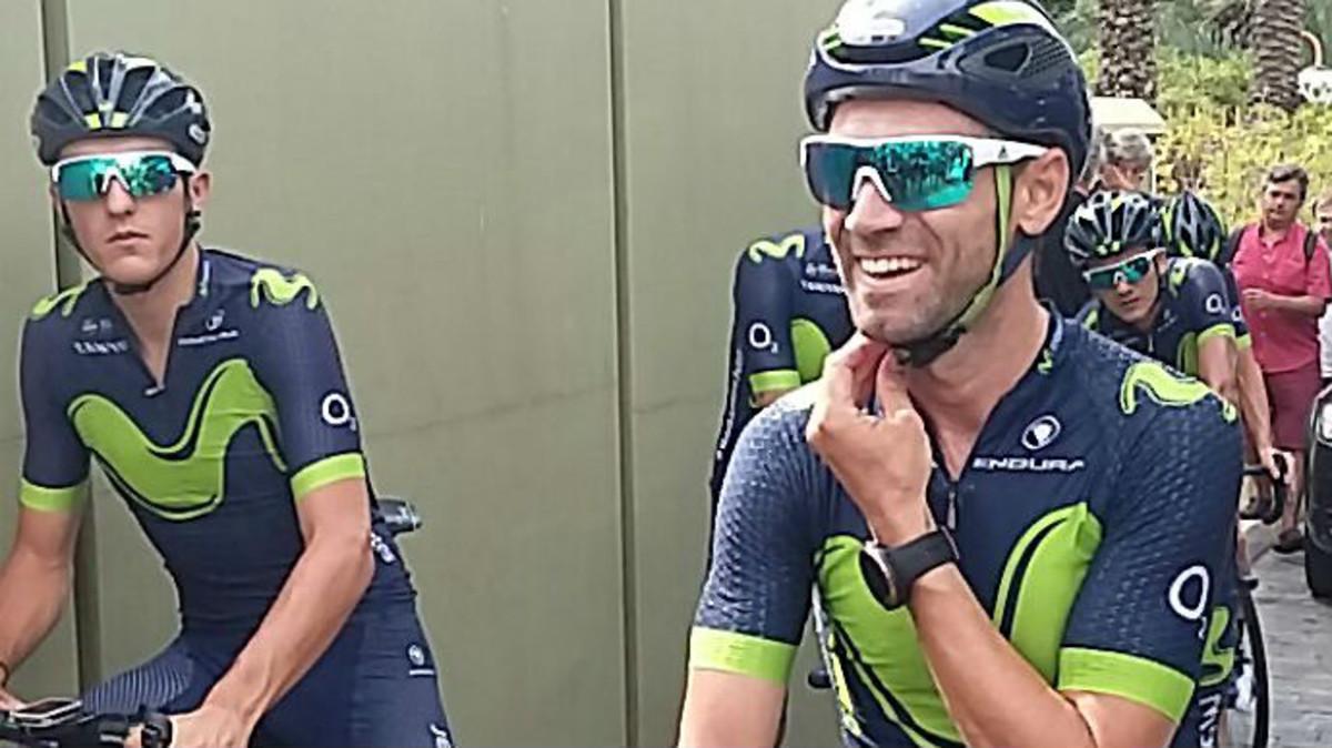 Alejandro Valverde, recuperado de la grave lesión de rodilla que sufrió la temporada pasada.
