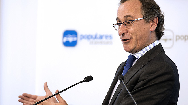 Alfonso Alonso, candidato del PP a lendakari.