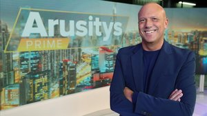 Alfonso Arús, en el plató del programa 'Arusitys prime', en Antena 3.