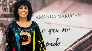Amanda Marugán en la presentación de 'Lo que no te pude contar', su primer libro.