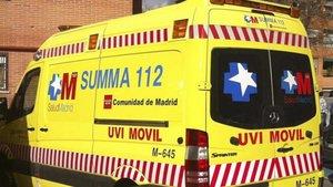 Imagen de archivo de una ambulancia del Samur en Madrid.