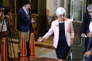La fiscala general del Estado, María JoséSegarra, a su llegada ala ceremonia de apertura del Año Judicial, el pasado septiembre.