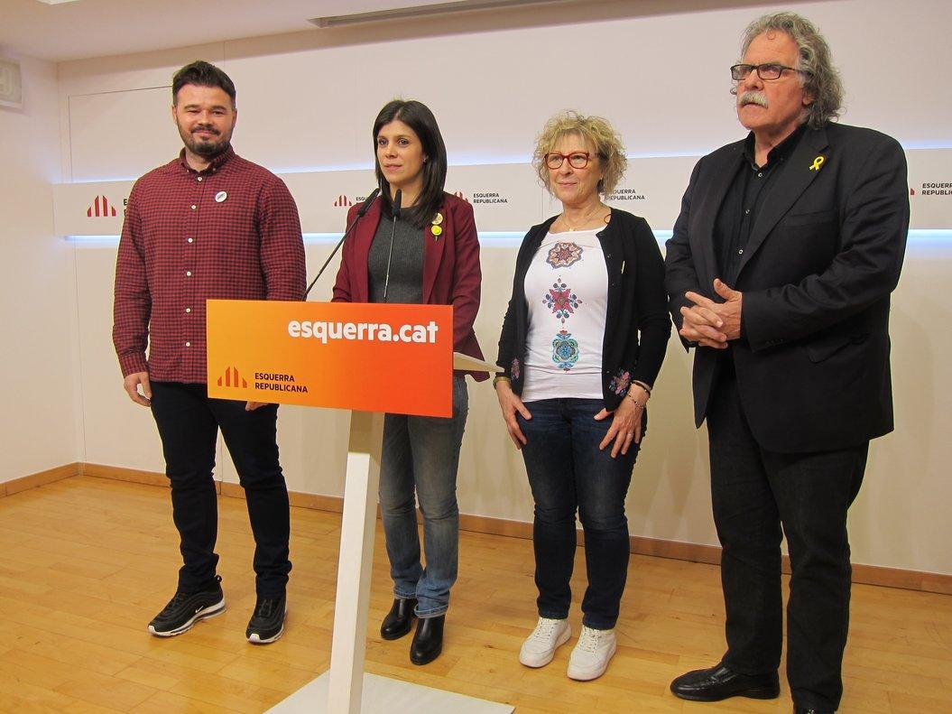 Gabriel Rufián, Marta Vilalta, Mirella Cort�s y Joan Tardà (ERC)