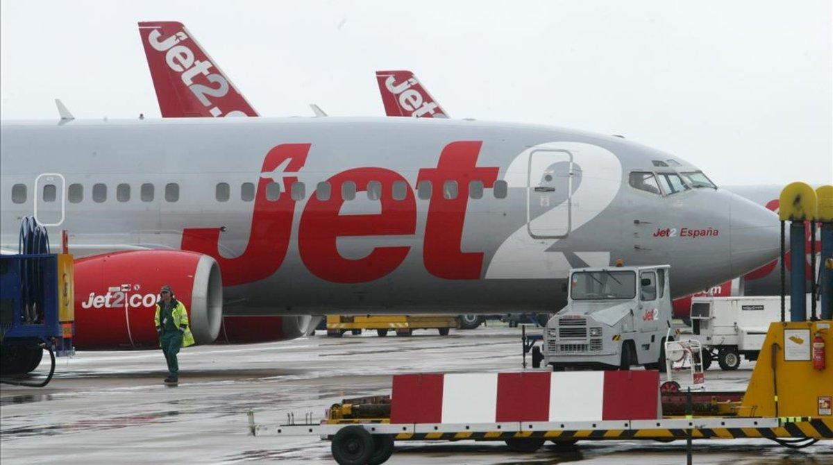 Un avión de la compañía Jet2.