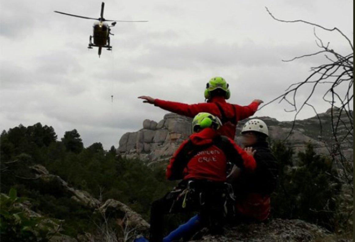 Helicóptero de rescate de los Bomberos de la Generalitat.