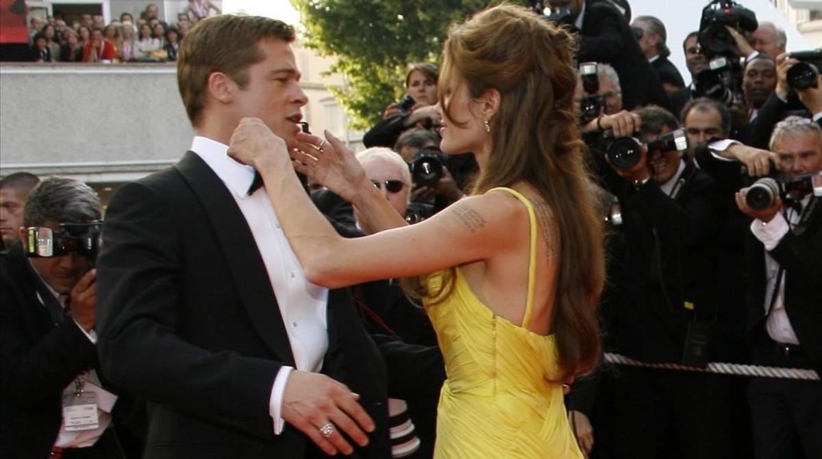 Brad Pitt y Angelina Jolie, en mayo del 2007.
