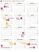 Calendario laboral de Castilla y León del 2020.