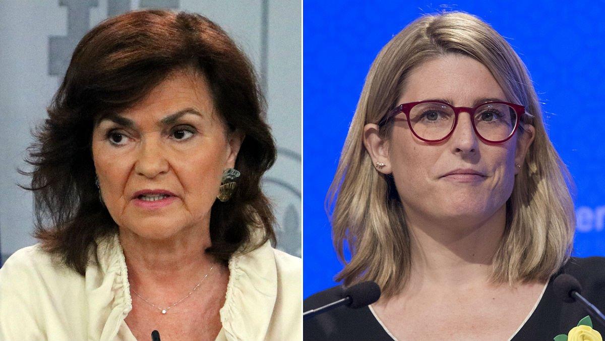 Carmen Calvo y Elsa Artadi.