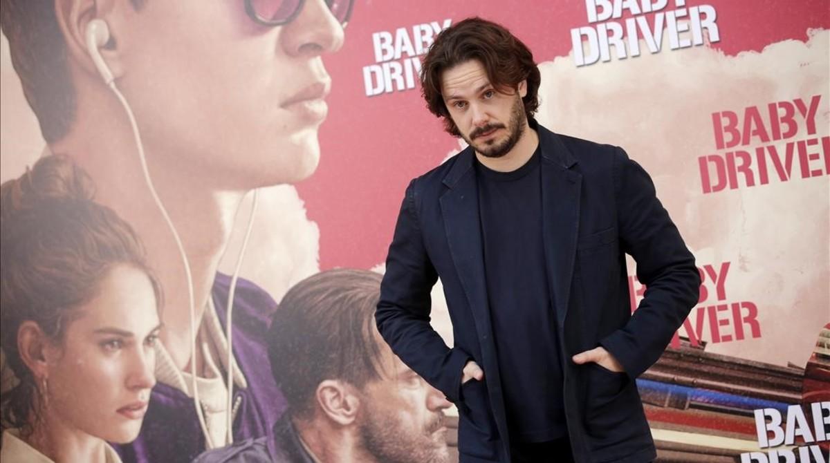 El cineasta Edgar Wright, en Madrid, durante la presentación a la prensa de 'Baby Driver'.