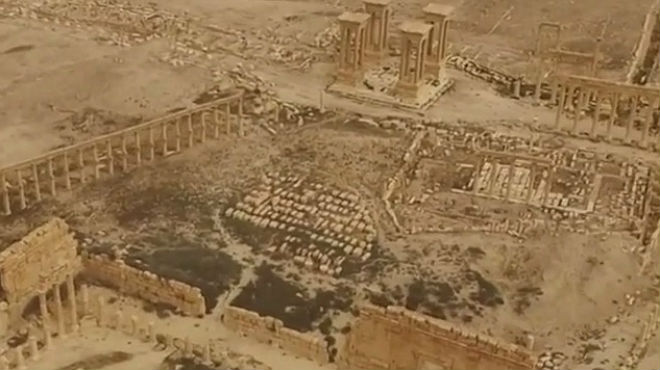 Imágenes de la Palmira que se ha encontrado el Ejército sirio tras recuperar la ciudad