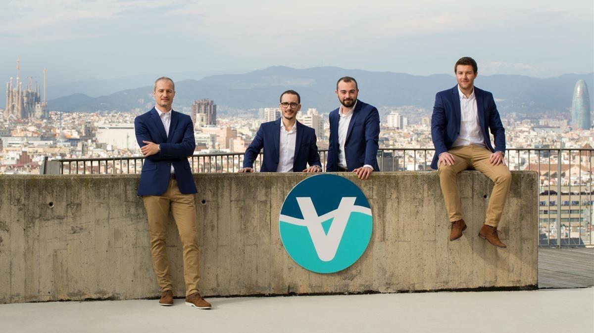 Los fundadores de Vacway Waterproof. De izquierda a derecha: Pau Corella, Joaquín Abellán, Javier Montón y Álex Pelegrí.