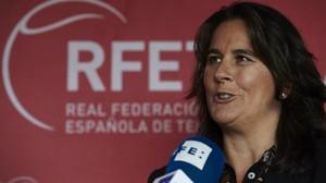 Conchita Martínez, la capitana española de Copa Davis.