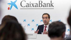 El consejero delegado de Caixabank, Gonzalo Gortázar, en Valencia.