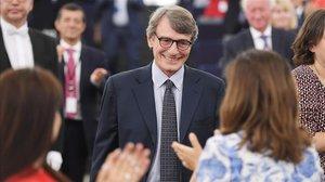 David Maria Sassoli tras ser elegido al frente del Europarlamento.