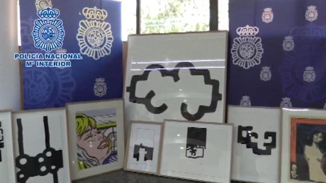Detenido un hombre por falsificar y subastar obras de Chillida, Munch y Guerrero.