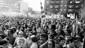 Histórica manifestación de la Diada de 1976 en Sant Boi de Llobregat.