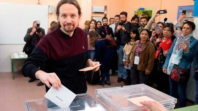 Elecciones 28-A. Iglesias espera una amplia participación que ayudaría a una mayoría progresista.