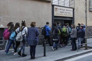 Entrada del colegio Maristas Sants-Les Corts.