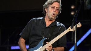 Eric Clapton durante un concierto en el Hyde Park de Londres
