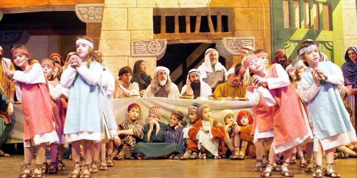 Una escena de Els Pastorets de Mataró, hace unos años.