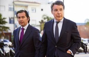 El expresidente de la Comunidad de Madrid Ignacio González, a su llegada al juzgado de instrucción de Estepona que investiga el caso del ático de lujo que posee en esta población.