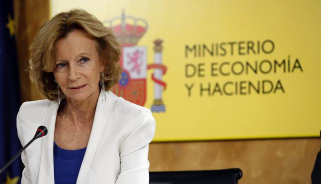 La exvicepresidenta de Economía Elena Salgado, cuando presidía el ministerio, en octubre del 2011.