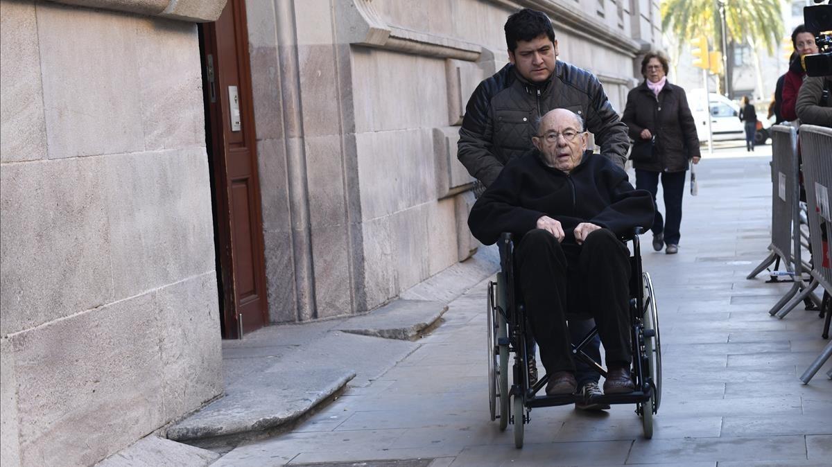 Fèlix Millet abandona la Audiencia de Barcelona tras conocer la sentencia del caso Palau.
