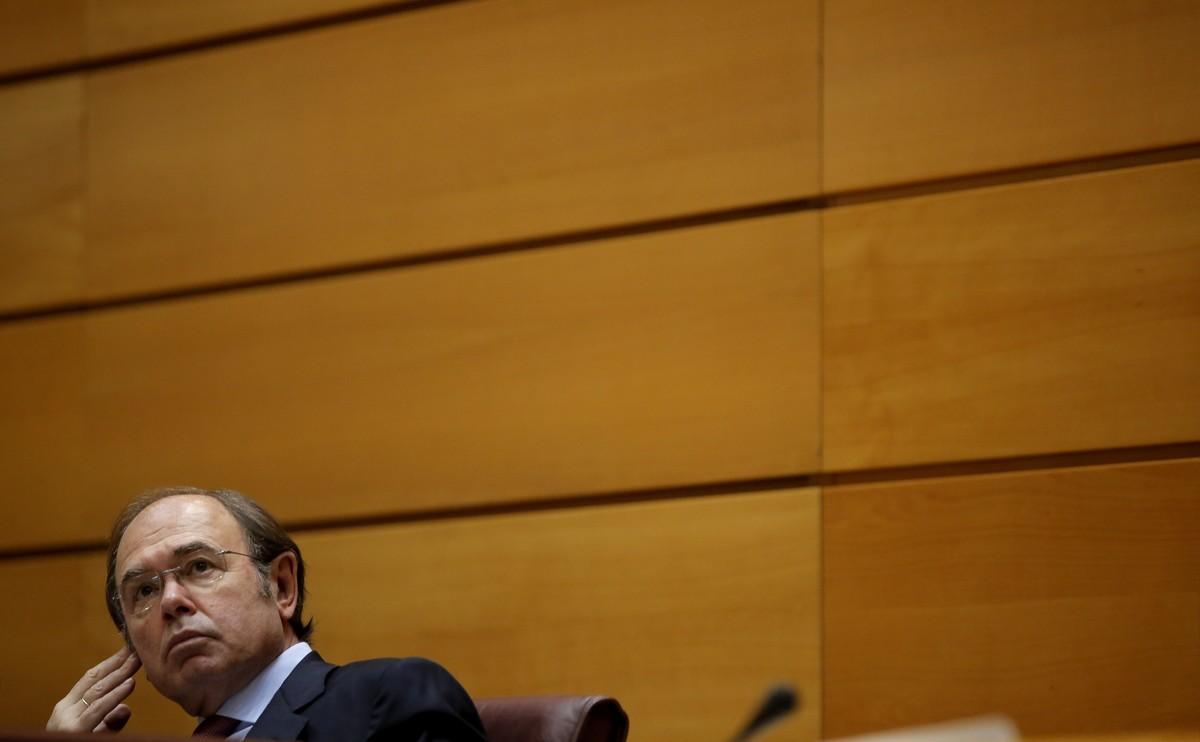 Pío Garcia Escudero, en la sesión de control al Gobierno celebrada en el Senado.