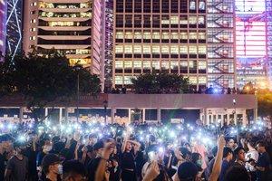 Protestas masivas antigubernamentales en Hong Kong.