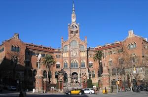 El Hospital de Santa Creu i Sant Pau, en Barcelona.