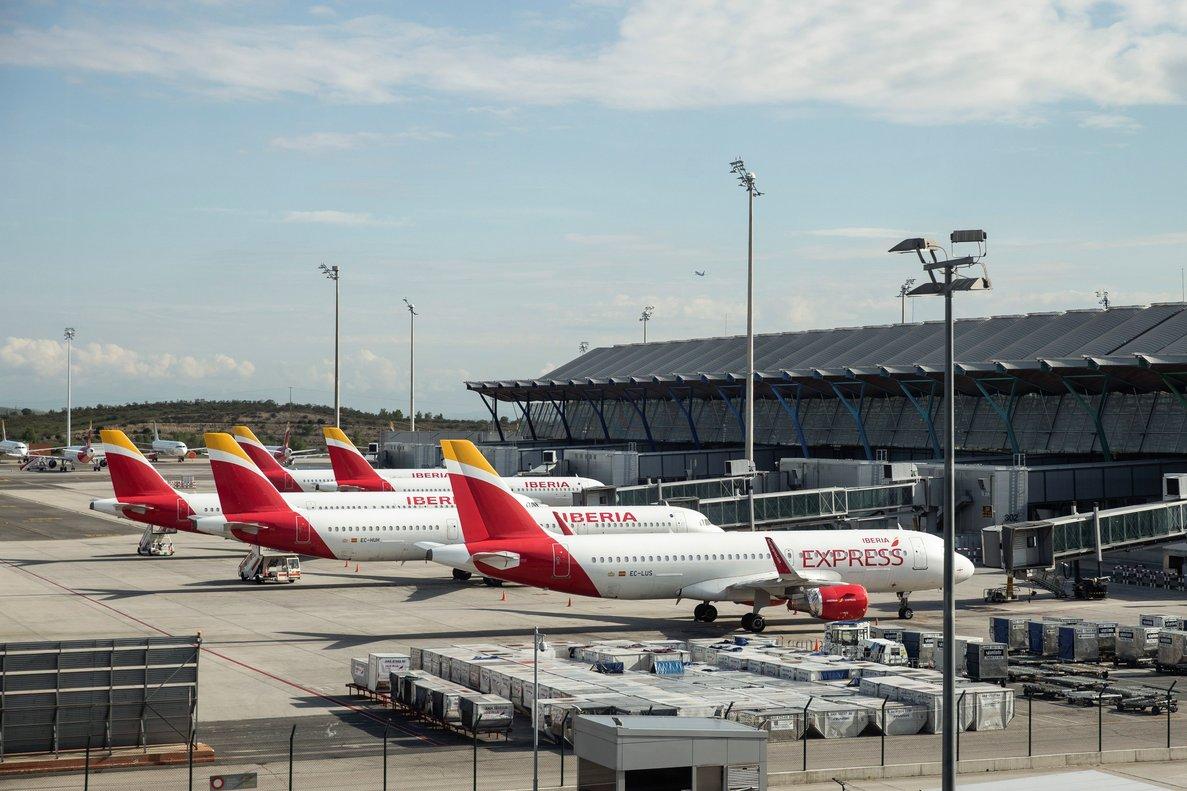 Imagen del aeropuerto de Barajas durante la pandemia del coronavirus