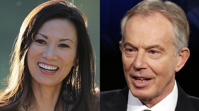 Wendi Deng y Tony Blair