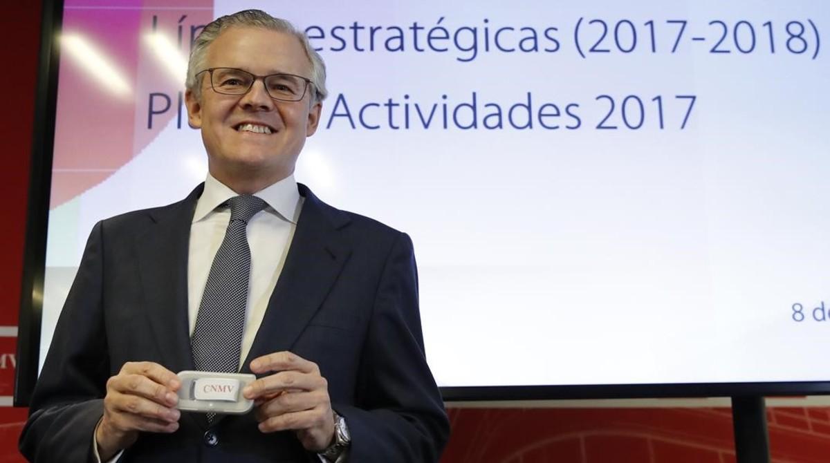 El presidente de la CNMV, Sebastián Albella, en una imagen de archivo.