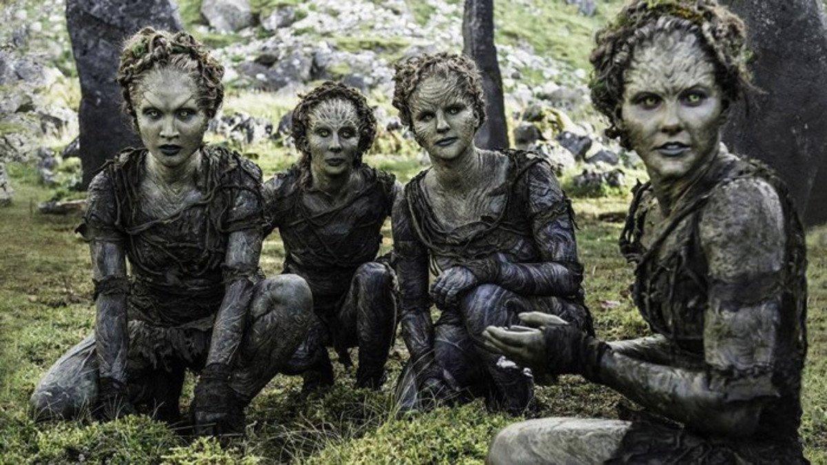 Imagen de los hijos del bosque en 'Juego de tronos'.