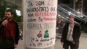 Protesta de estudiantes universitarios.
