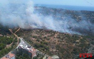 Imagen facilitada por los bomberos del incendio.