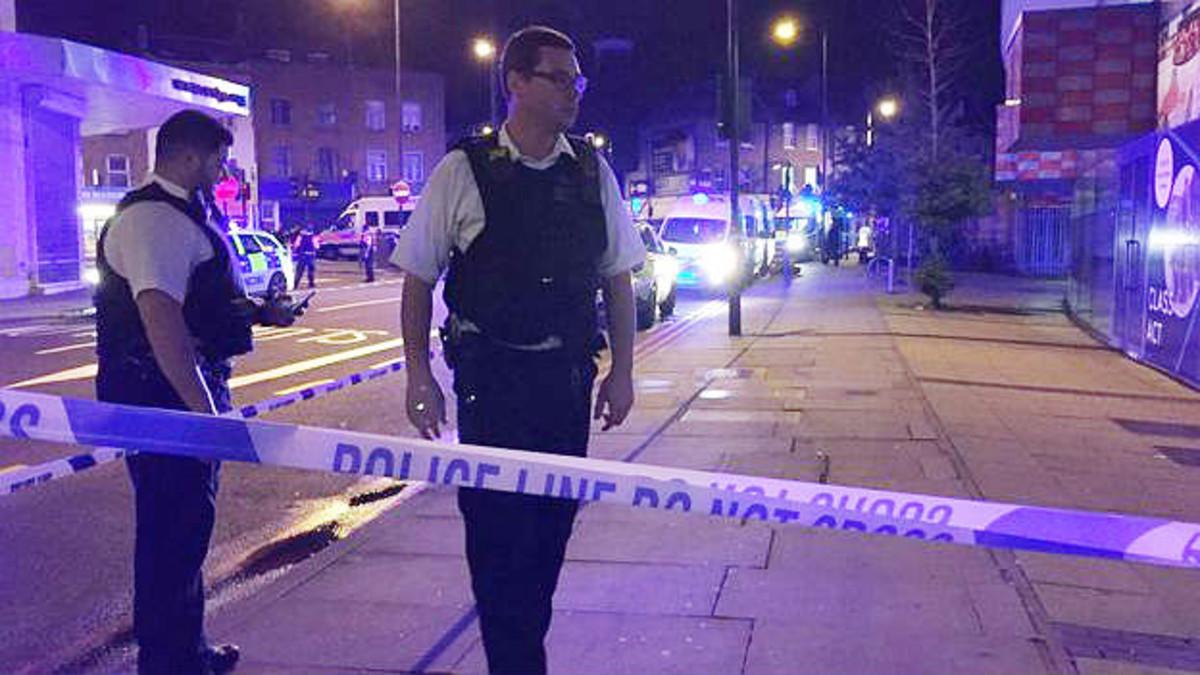 Control policial en Londres.