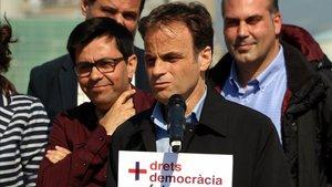 Jaume Asens, durante la presentación de su candidatura.