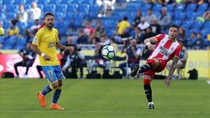 El Girona tanca amb victòria a Las Palmas una temporada de somni